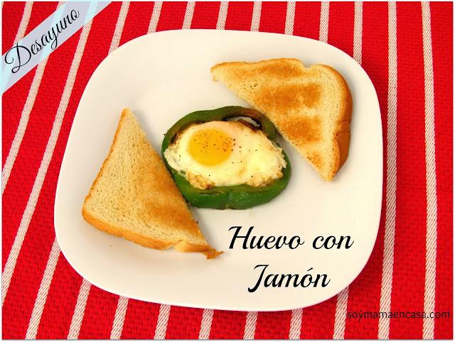 huevo frito con jamon y chile morron