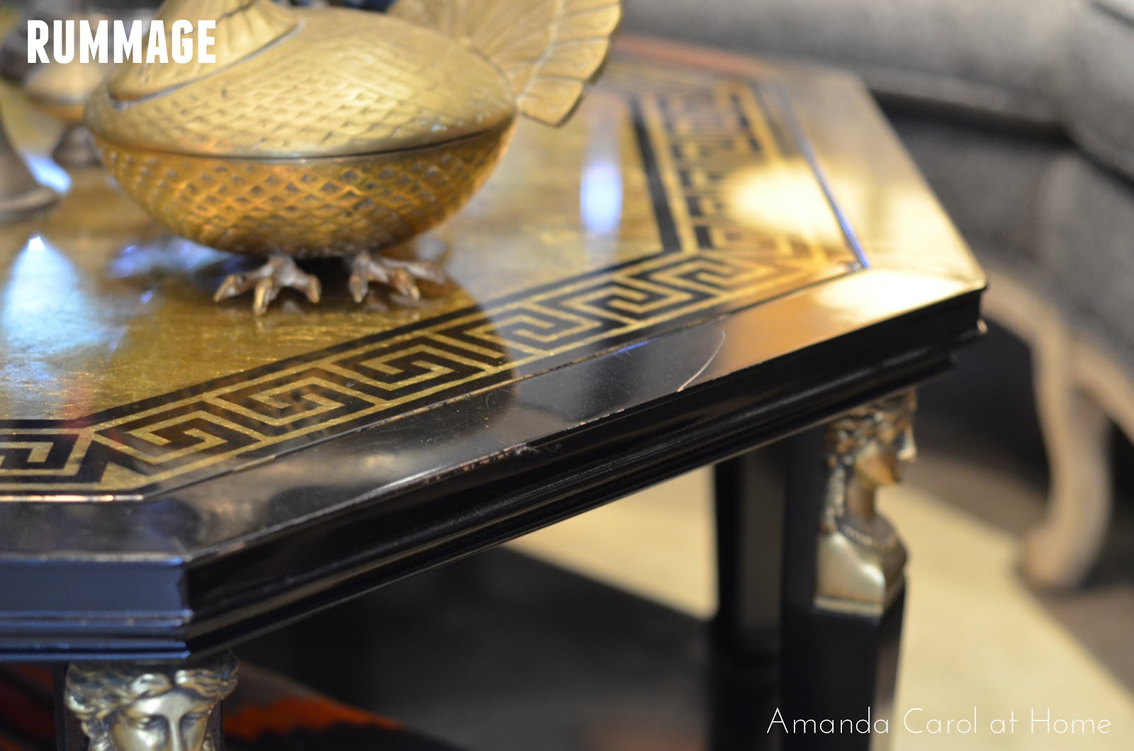 Amanda carol interiors i feel in love with this greek key detailed coffee table geotapseo Gallery