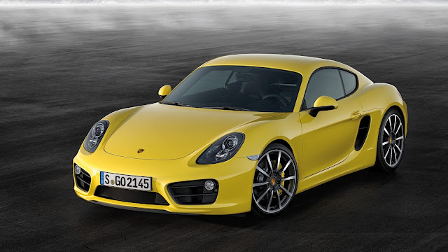 Yellow Porsche Cayman