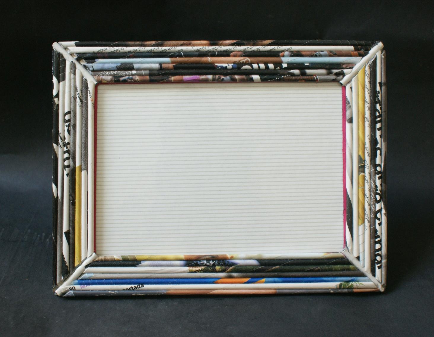 Portaretratos de papel de periódico - Imagui