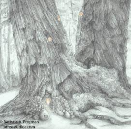 """Forest Lodge"" © Barbara A. Freeman, M.A.A - Fine Art Miniature"