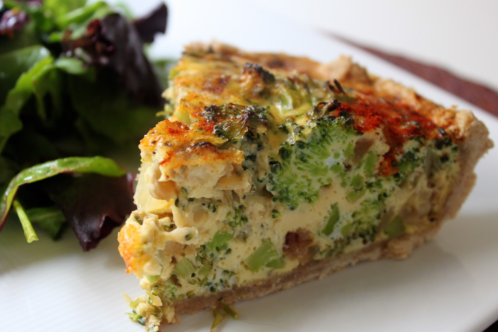 Domestic Divas Blog: Broccoli Cheddar Quiche