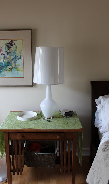 Jonathan Adler Capri lamps in master bedroom