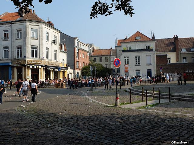 Centre ville Lille durant la braderie