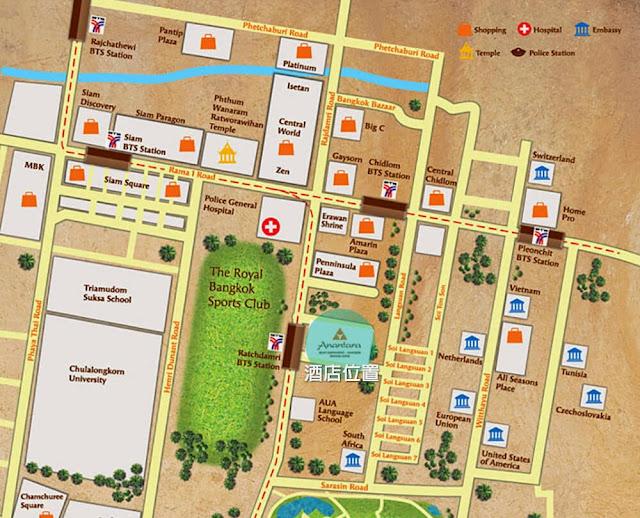 Anantara Baan RajprasongServiced Suites Bangkok 地圖