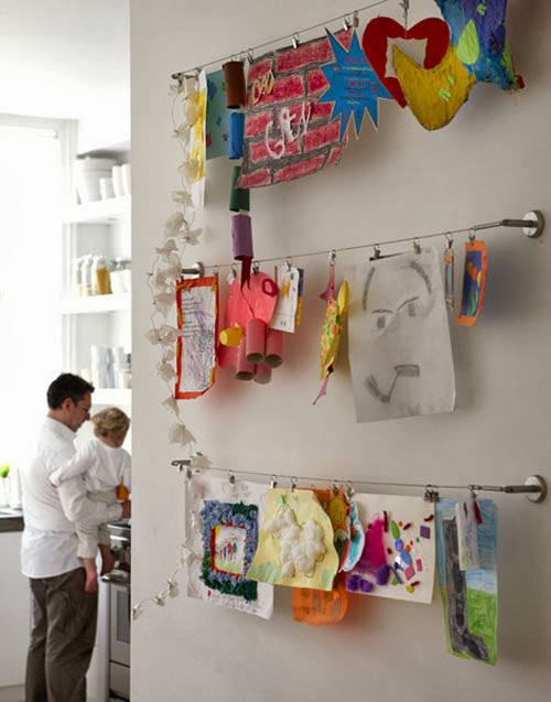 hanging art display