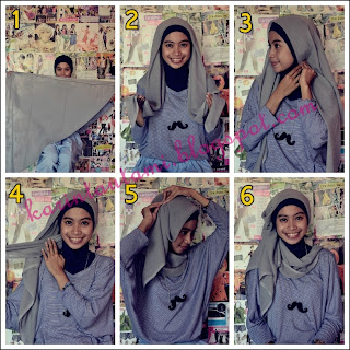 of Beautiful Life: Hijab tutorial : Kerudung paris segi empat #1