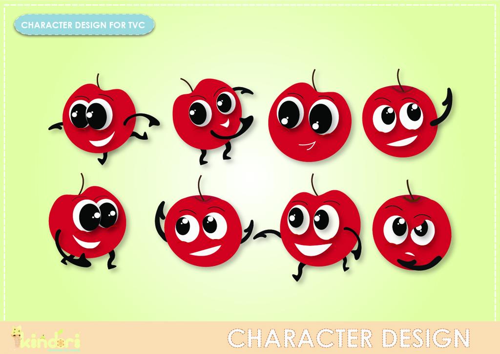 Apple Character Design : Fyp minor tvc