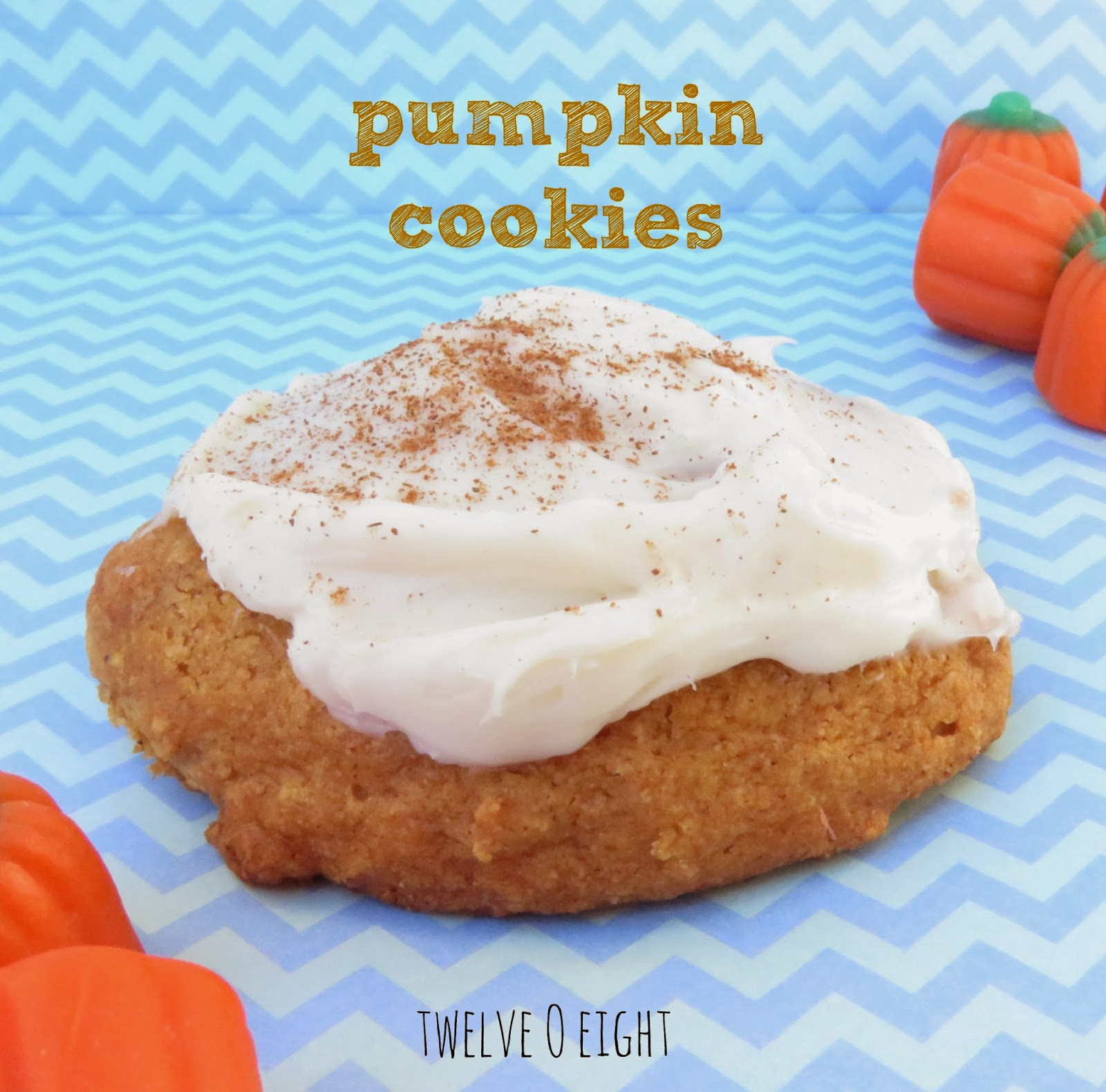 pumpkin cookie, pumpkin dessert, pumpkin recipe, cream cheese frosting, frosted pumpkin cookie, best cookie recipes
