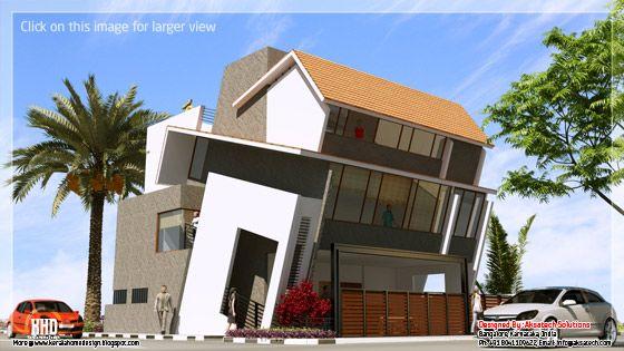Unusual home elevation