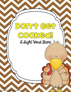 Don't Get Cooked-Sight Word Game