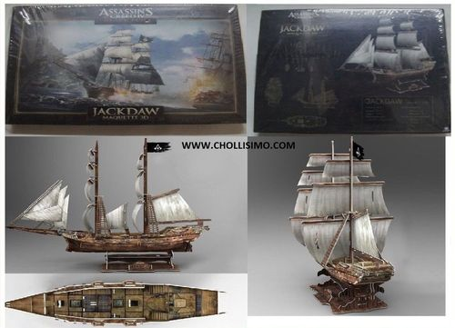 Maqueta del barco de ASSASSIN'S CREED, maqueta de barco barata, ASSASSIN'S CREED Black Flag
