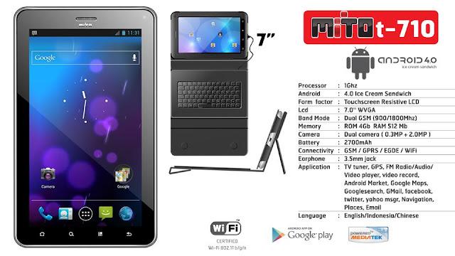 Spesifikasi Mito T710 Tablet Bisa Call Sms