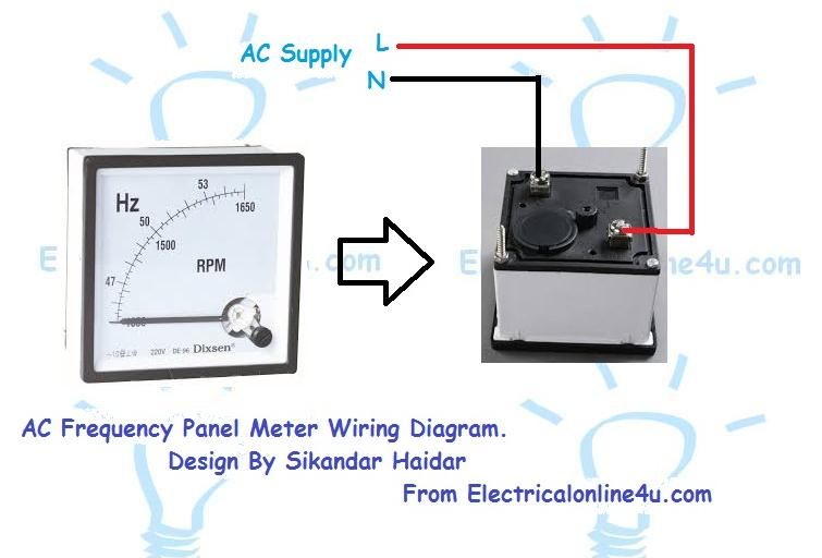 frequency%2Bmeter how to wire a frequency meter (hz hertz)? electrical online 4u ac amp meter wiring diagram at crackthecode.co