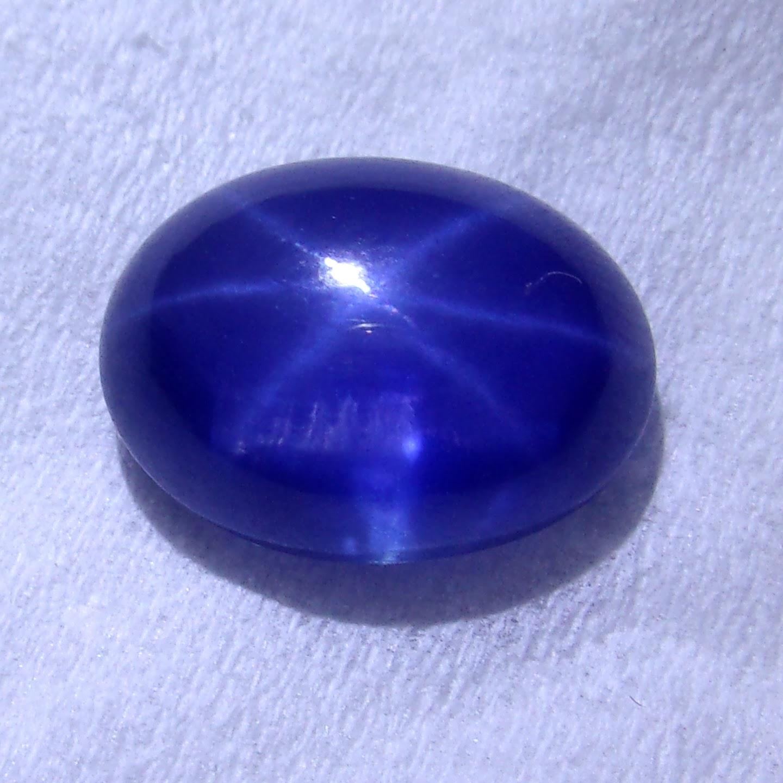 natural blue safir star jp133 jual batu permata hobi permata