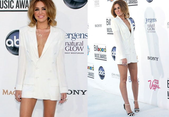 miley cyrus billboard awards, blazer dress, jean paul gaultier