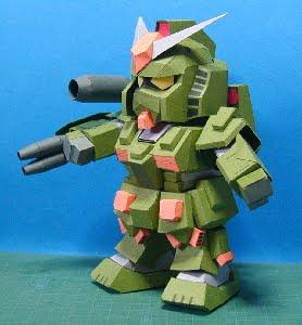 SD FA-78 Full Armor Gundam Papercraft