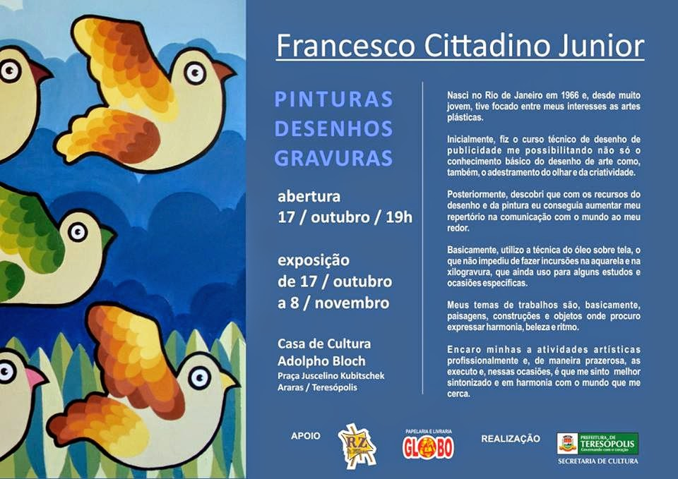 Exposição Francesco Cittadino em Teresópolis