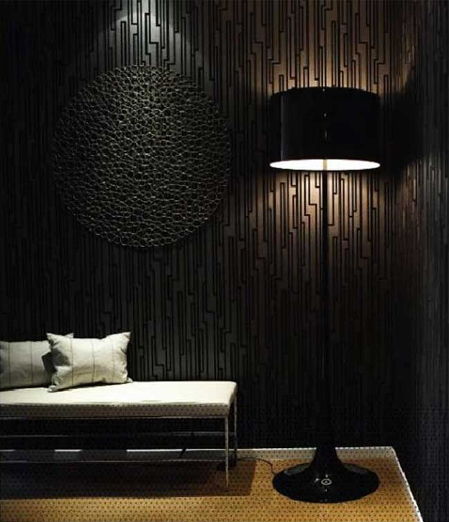 Black Wall Bedroom Interior Design Dark Green Colour Bedroom Gold Ceiling Bedroom Bedroom Door Design White: DARK WALLS - INTERIOR INSPIRATION
