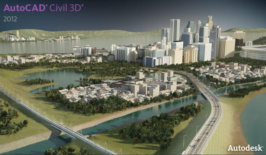 AutoCAD Civil 3D 2012 screenshot