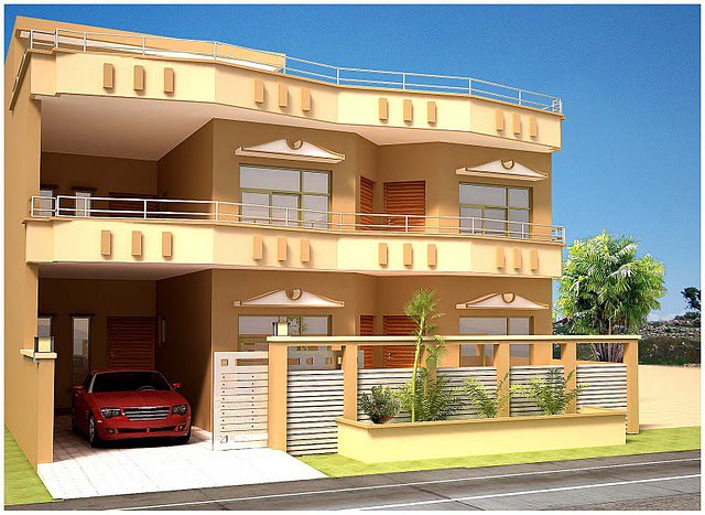 Front Elevation Of Beautiful House : D front elevation pakistan beautiful