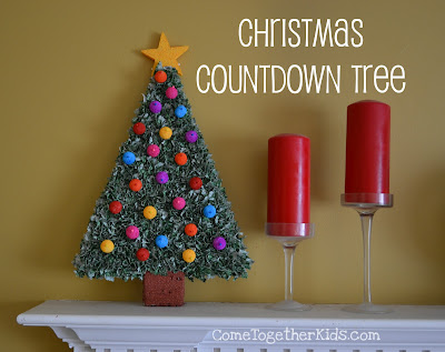 christmas countdown tree advent calendar
