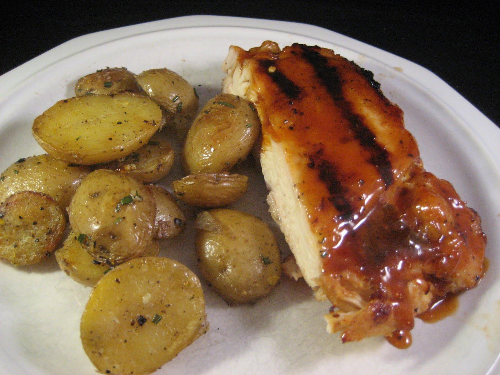 Chez Mona: Grill-Roasted Rosemary Potatoes