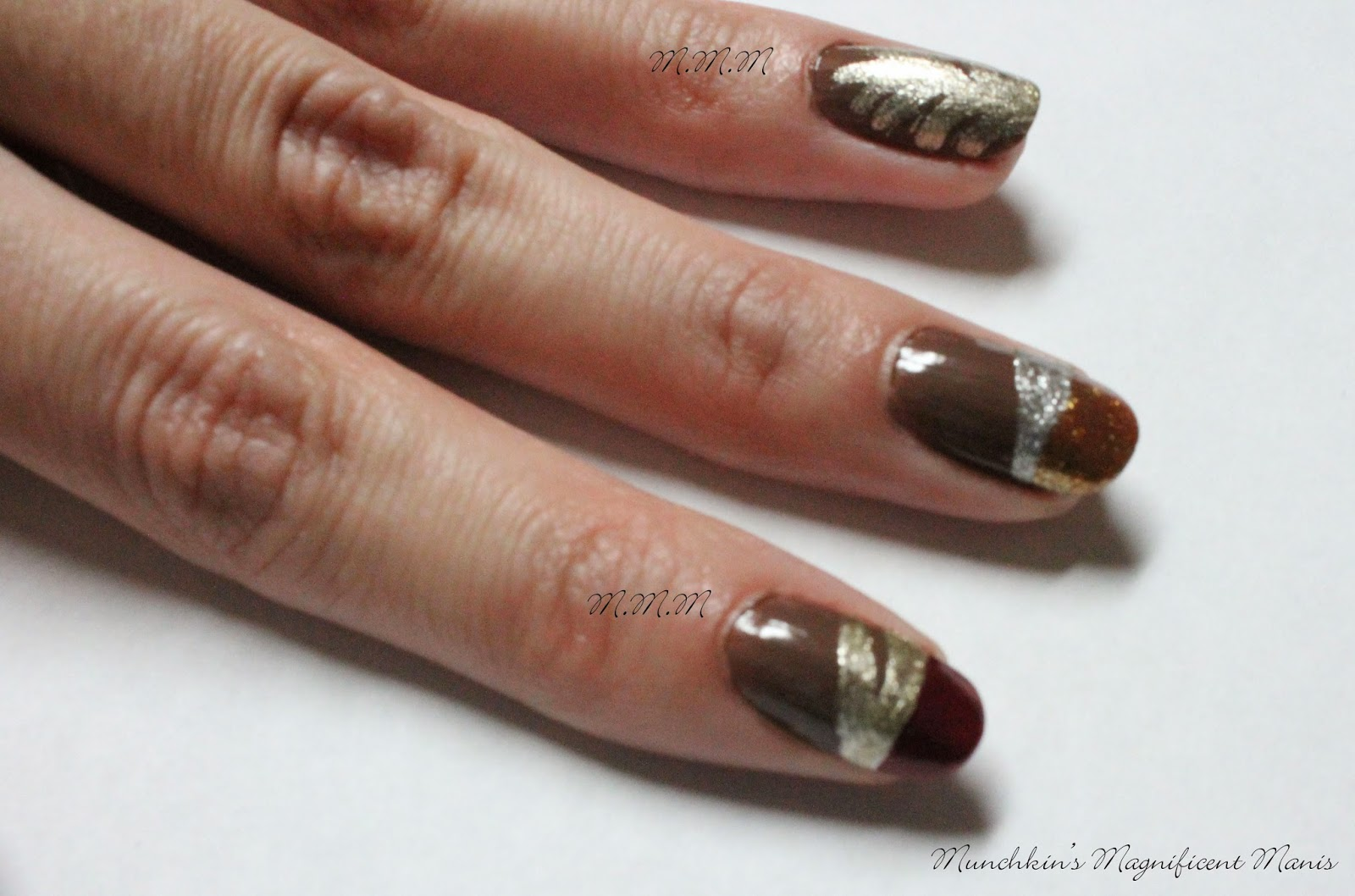 Munchkins magnificent manis october 2014 then once again at the end of that line draw a slanted line that goes to the other end of the nail its okay if the line is kind of thick prinsesfo Image collections