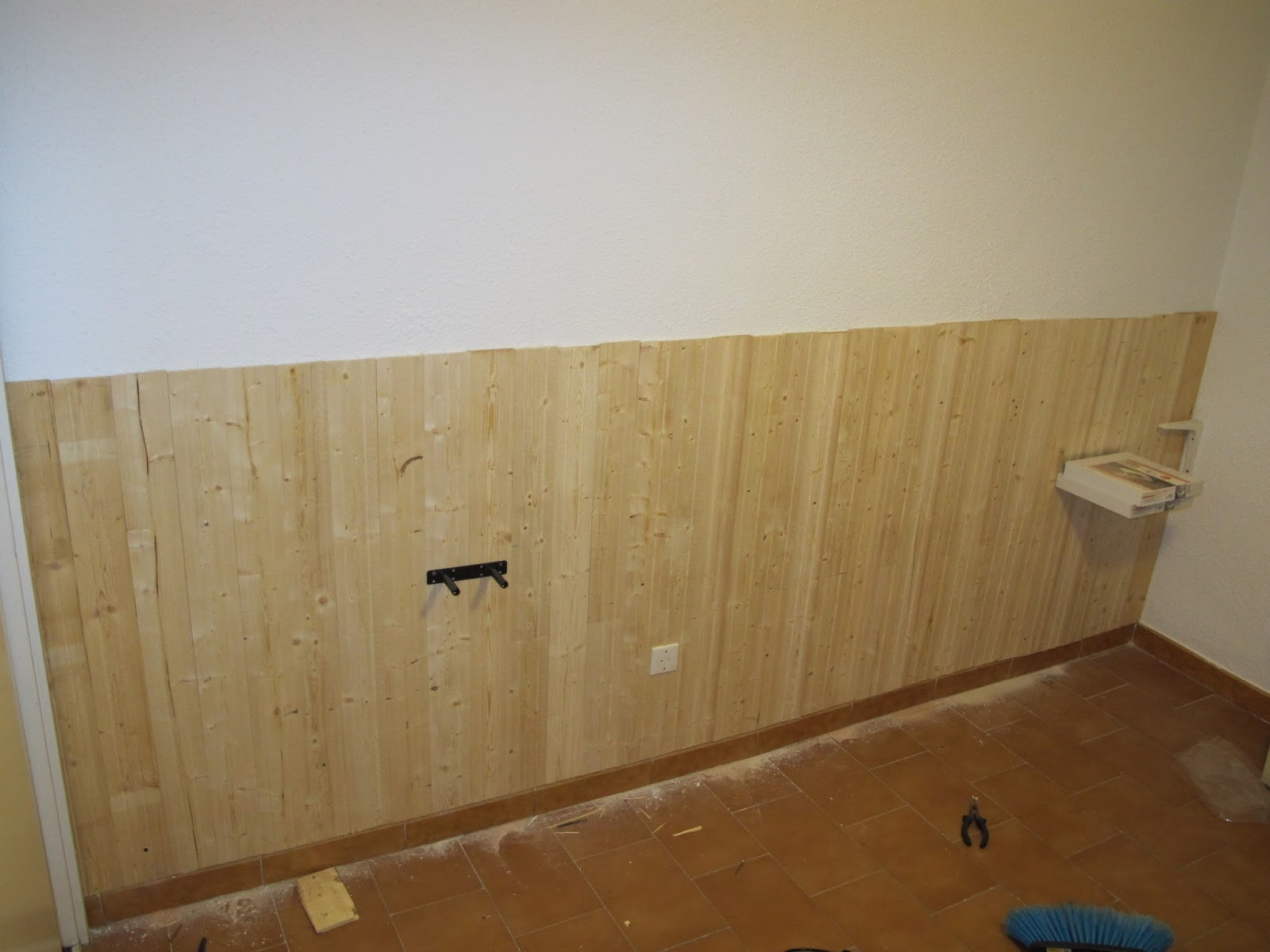 Bricomonxo cabecero de madera para dormitorio - Zocalo pared ...