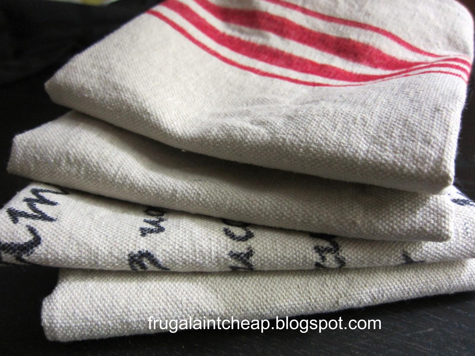 Frugal Ain u0027t Cheap Tea Towels and dropcloth