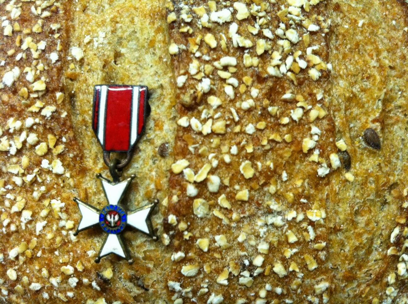 Bread with miniature Polonia Restituta Order by Maja Trochimczyk