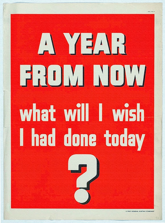 advertising, classic posters, free download, free posters, free printable, graphic design, printables, retro prints, vintage, vintage posters, vintage printables, wildlife, art, A Year From Now - Vintage Motivational Poster