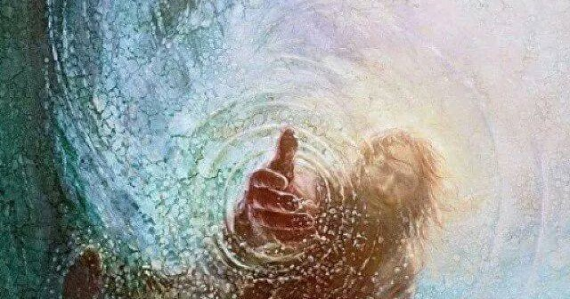 Save Me Hand Of God Painting