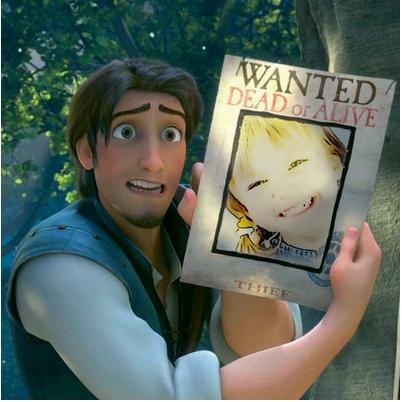 Moldura de foto Rapunzel do filme Enrolados