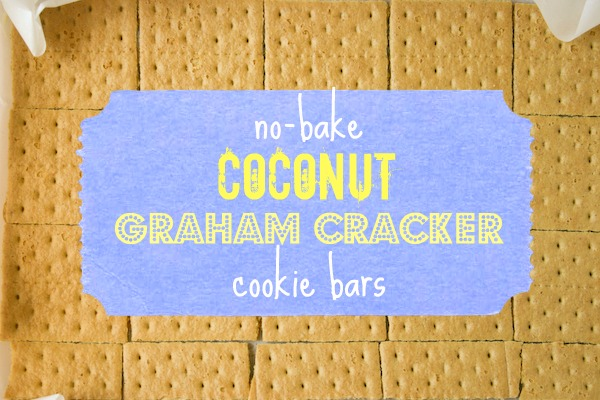No-Bake Coconut Graham Cracker Cookie Bars.