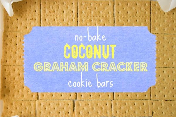 No-Bake Coconut Graham Cracker Cookie Bars.