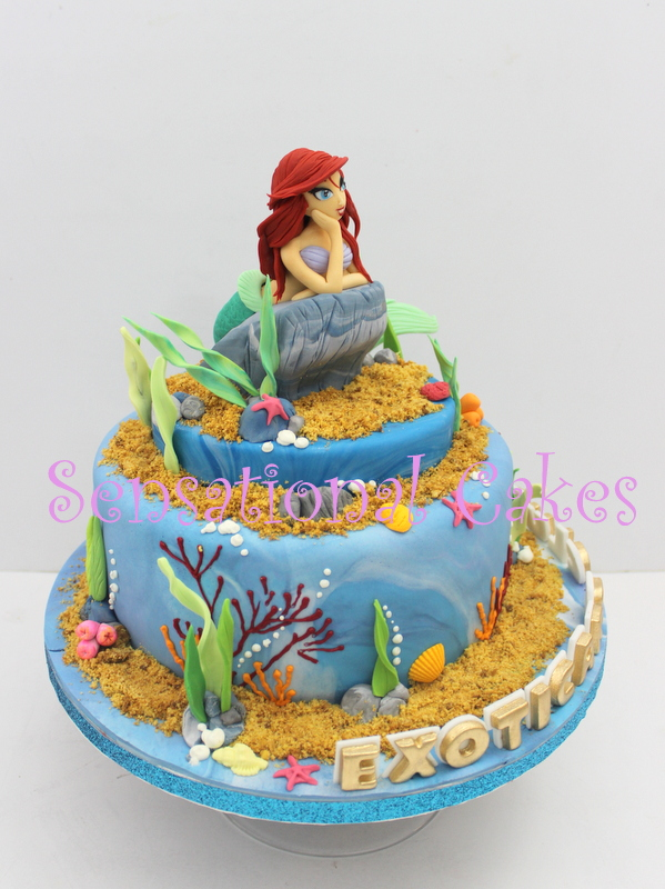 The Sensational Cakes Ariel The Mermaid Princess Theme 3d