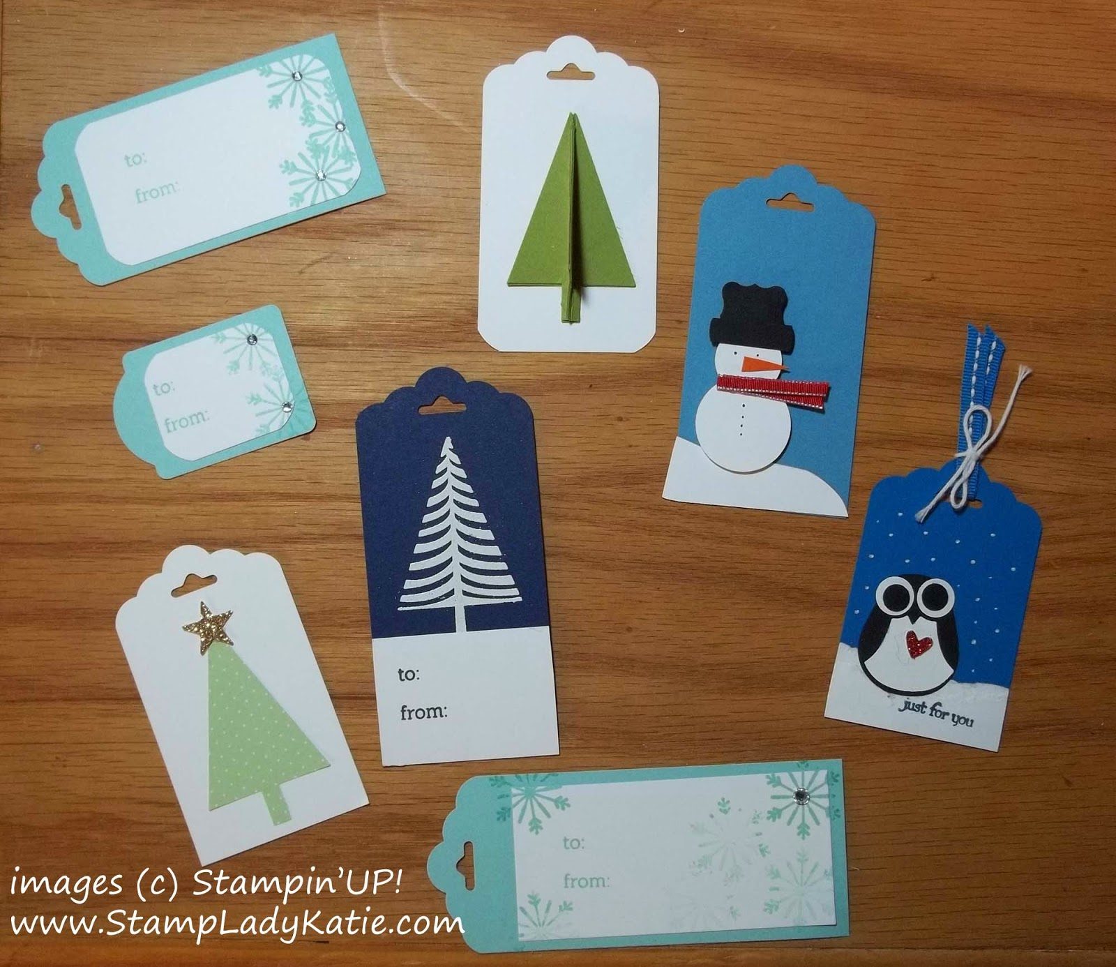 Samples of Holiday Gift Tags