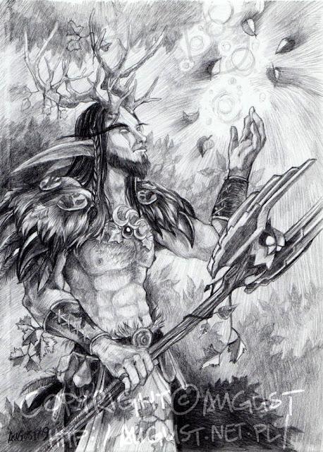 Night Elf Druid. por Augustanna