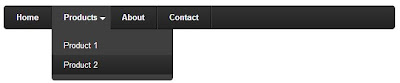 Black CSS3 Drop Down Menu