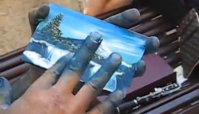 World's Fastest Finger Painting Artist