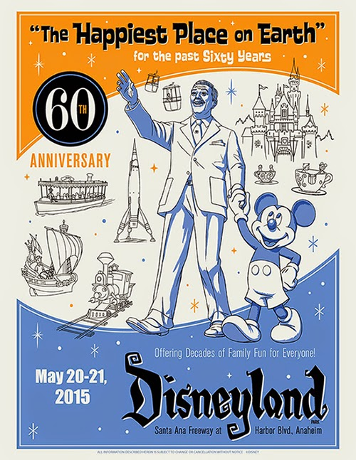 Insights And Sounds Disneyland 60th Anniversary Poster
