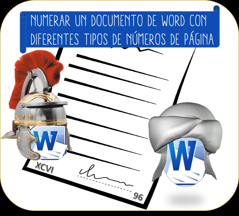Numerar un documento de Word con diferentes tipos de números de página