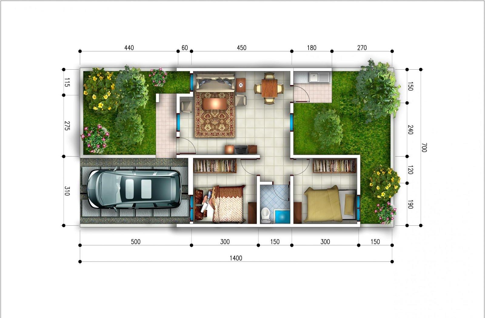 budidaya burung contoh denah rumah minimalis type 45 terbaru