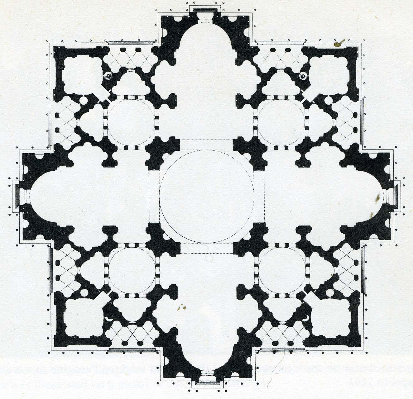 Donato Bramante Plans St Peters
