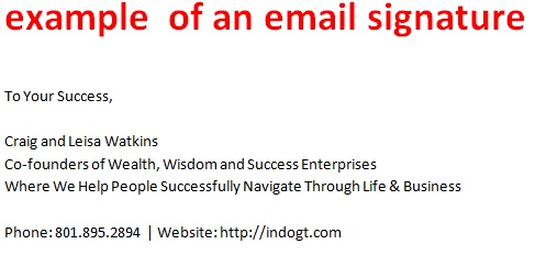 Formal E-mail Signatures