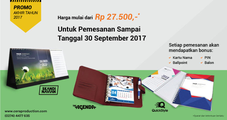 Promo Cetak Kalender 2018