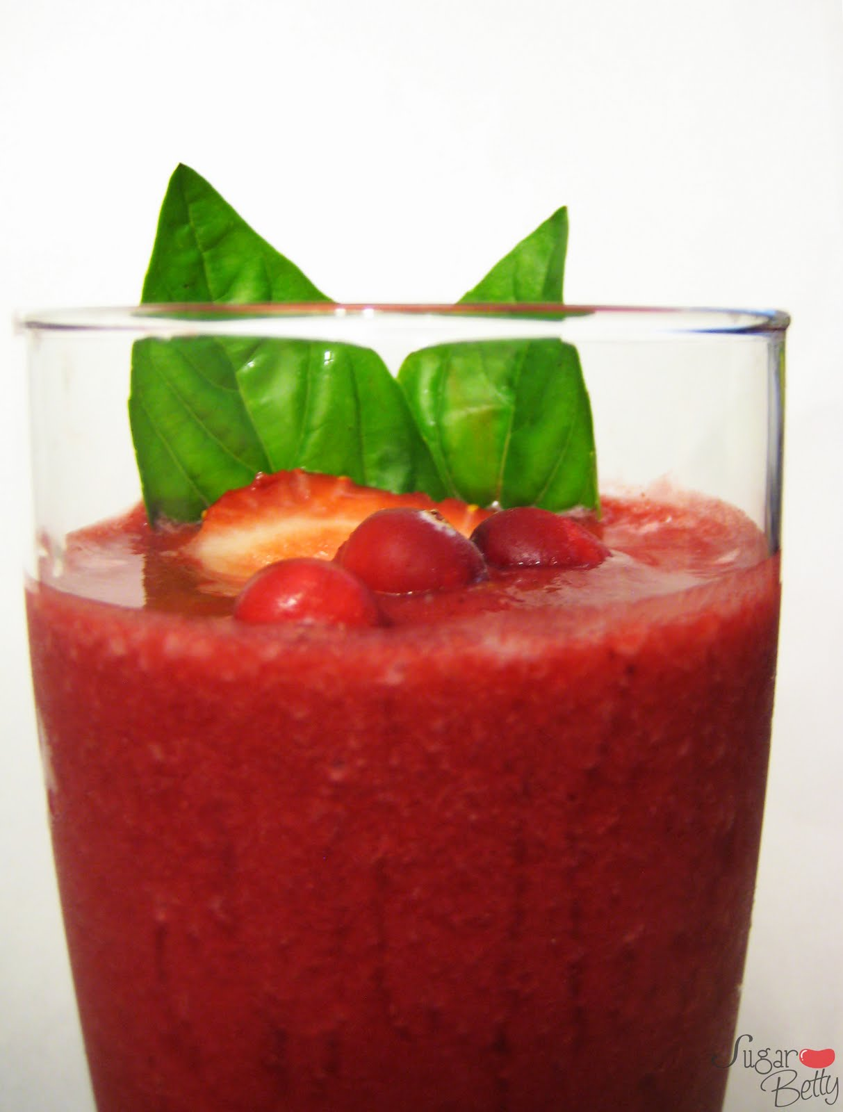 one bright pink smoothie if you know someone that likes the color pink ...
