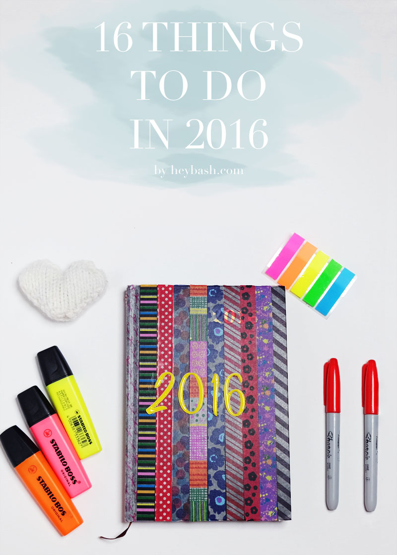 Little mini-resolutions for the new year. Perfect for people who want to achieve just enough