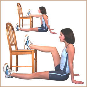 Exercices de gym la maison 4 la chaise ma petite niche for Abdos fessiers exercices a la maison